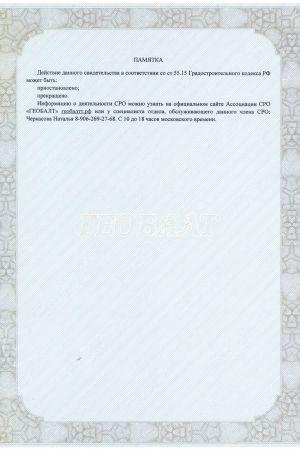 Свидетельство о допуске для  геодезических работ, стр.2